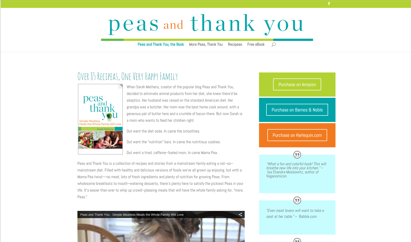 Peas and Thank You