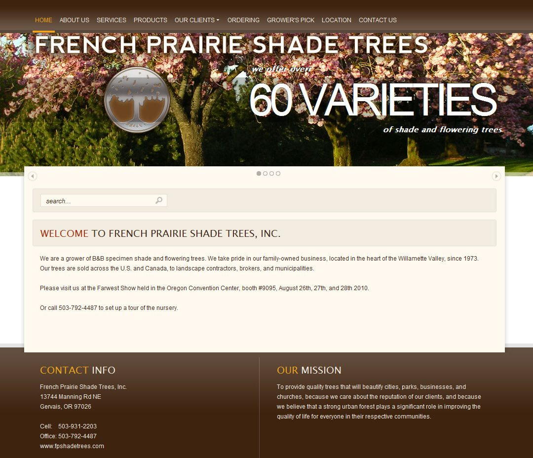 French Prairie Shade Trees